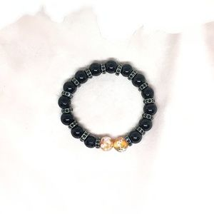 Jewelry - Spinel Oxidised Silver Spacer & Beads Bracelet